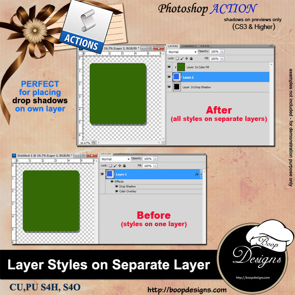 Separate Layer Styles by Boop Designs