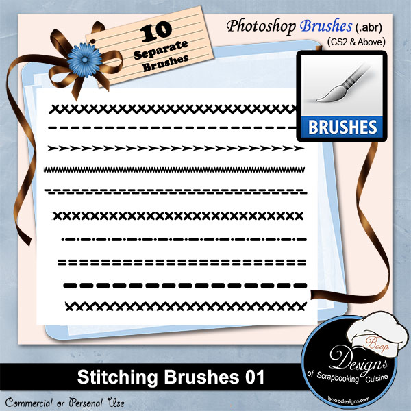 Stitching Brushes 01 by Boop Designs